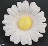 Daisy White Gumpaste Flowers 8 piece