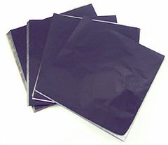 Black 5x5 Candy Foil Squares 125 piece