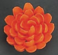 Chrysanthemum Orange Edible Royal Icing Flower 4 piece
