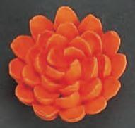Chrysanthemum Orange Edible Royal Icing Flower 4 piece