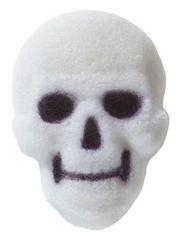 Skull White Edible Sugar Decorations 6 Piece