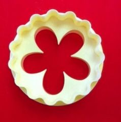 Blossom and Round Circle Scalloped Cupcake Gumpaste Fondant Cutter