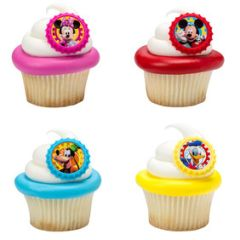 Mickey Mouse Clubhouse Cupcake Rings 12 Piece