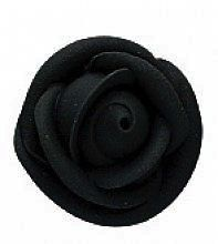 Black Medium Royal Icing Roses 1 1/2 inch 6 Piece