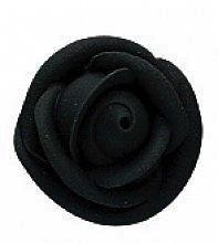 Black Medium Royal Icing Roses 1 1/2 inch 6 Piece