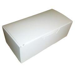 Candy Box White 1/2 lb 5 1/2 x 2 3/4 x 1 3/4 inch
