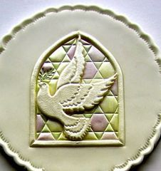 Dove of Peace Patchwork Cutter Cake Imprinter Embosser