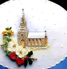 Church Patchwork Cutter Cake Imprinter Embosser