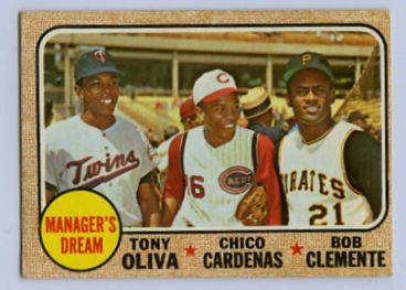 6. 1968 TOPPS BASEBALL CARD #480 - CLEMENTE