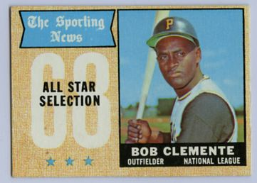 10. 1968 BOB CLEMENTE TOPPS BASEBALL ALL STAR CARD