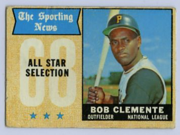 11. 1968 BOB CLEMENTE TOPPS BASEBALL ALL STAR CARD
