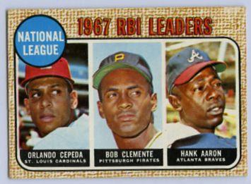 13. 1968 TOPPS BASEBALL CARD #3 - CLEMENTE
