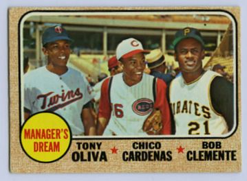 18. 1968 TOPPS BASEBALL CARD #480 - CLEMENTE