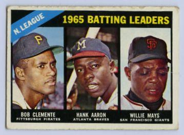 20. 1966 TOPPS BASEBALL CARD #215 - CLEMENTE