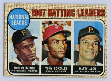 29. 1968 TOPPS BASEBALL CARD #1 - CLEMENTE