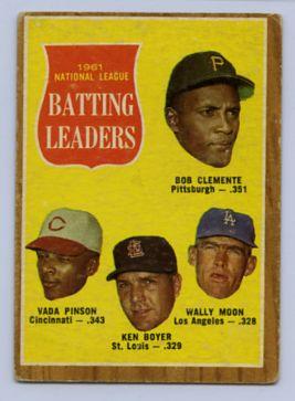 33. 1962 TOPPS BASEBALL CARD #52 - CLEMENTE