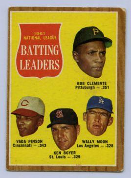 34. 1962 TOPPS BASEBALL CARD #52 - CLEMENTE