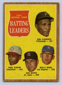 36. 1962 TOPPS BASEBALL CARD #52 - CLEMENTE