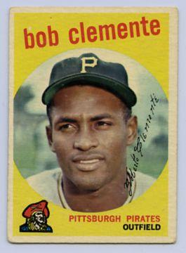 55. 1959 ROBERTO CLEMENTE TOPPS BASEBALL CARD #478