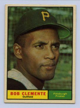 58. 1961 ROBERTO CLEMENTE TOPPS BASEBALL CARD #388