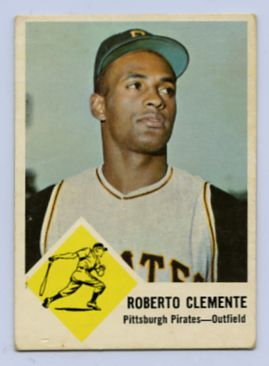 62. 1963 ROBERTO CLEMENTE FLEER BASEBALL CARD #56