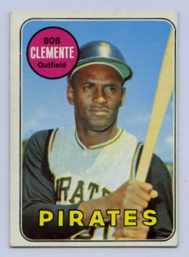 73. 1969 ROBERTO CLEMENTE TOPPS BASEBALL CARD #50
