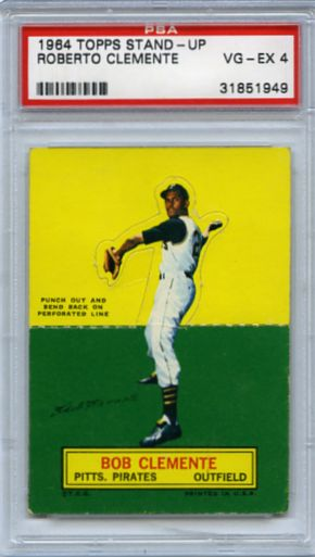 1964 TOPPS ROBERTO CLEMENTE STAND-UP, PSA 4