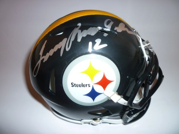 STEELERS - TERRY BRADSHAW SIGNED MINI HELMET
