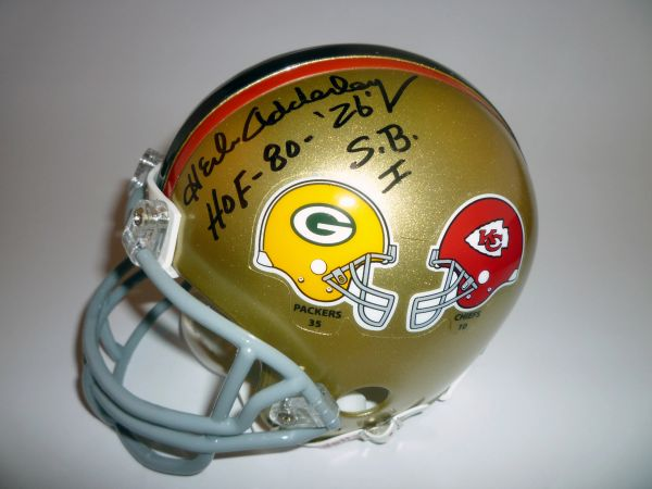 GREEN BAY PACKERS - HERB ADDERLEY SUPER BOWL I SIGNED MINI HELMET