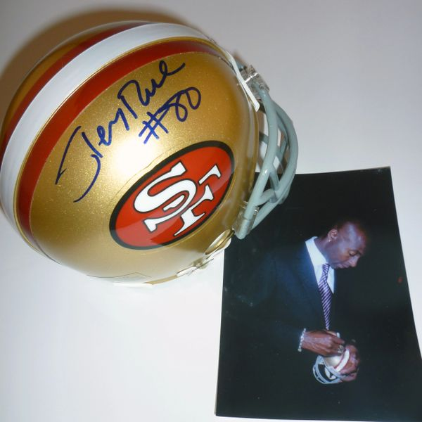 SAN FRANCISCO 49'ers - JERRY RICE SIGNED MINI HELMET