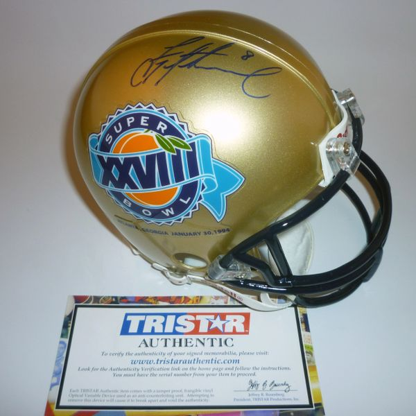 DALLAS COWBOYS - TROY AIKMAN SIGNED SUPER BOWL XXVIII MINI HELMET