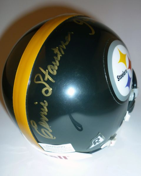 STEELERS - ERNIE STAUTNER & JOHN HENRY JOHNSON SIGNED MINI HELMET