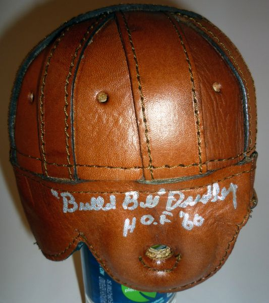 STEELERS - BULLET BILL DUDLEY SIGNED LEATHER MINI HELMET