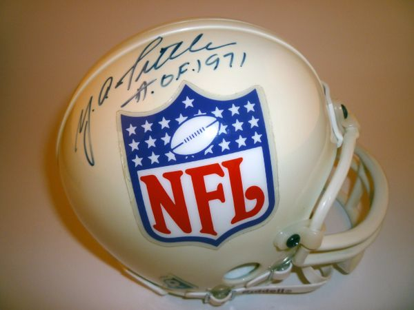 NEW YORK GIANTS - Y.A. TITTLE SIGNED NFL LOGO MINI HELMET
