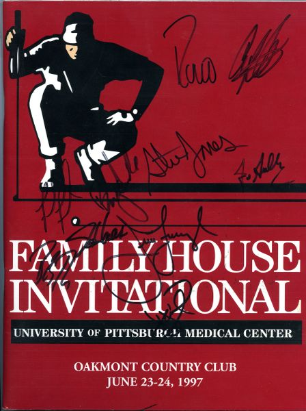 1997 Family House Invitational signed golf program, Oakmont