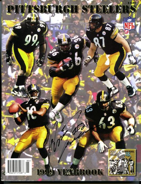 Amos Zereoue, Pittsburgh Steelers signed 1999 Yearbook