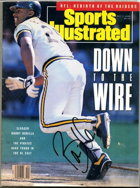 Bobby Bonilla, Pittsburgh Pirates signed Sports Illustrated