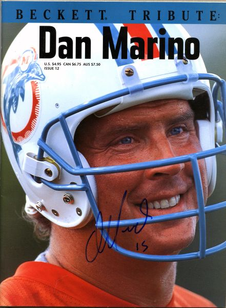 Dan Marino, Miami Dolphins signed Beckett Tribute price guide