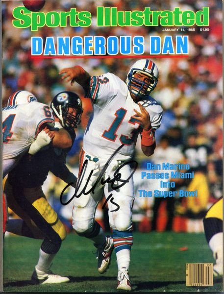 Dan Marino, Miami Dolphins signed Sports Illustrated