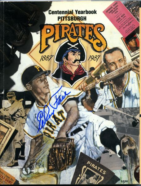 Elroy Face, Pittsburgh Pirates signed 1987 Pirates yearbook