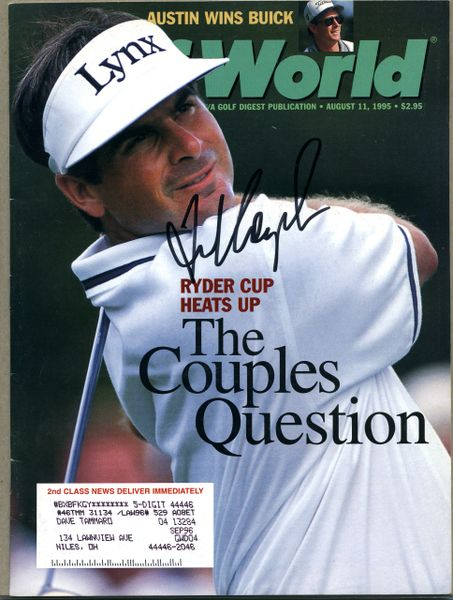 Fred Couples signed Golf World magazine