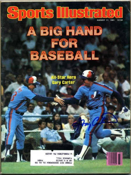Gary Carter, Montreal Expos signed Sports Illustrated