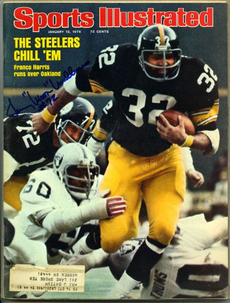 "Gerry ""Moon"" Mullins, Pittsburgh Steelers signed Sports Illustrated"