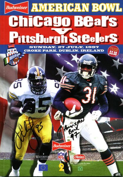 Greg Lloyd, Pittsburgh Steelers signed 1997 American Bowl program