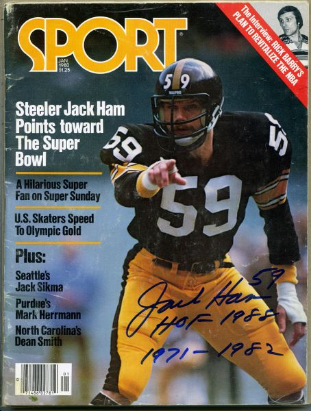 Jack Ham, Pittsburgh Steelers signed Sport magazine