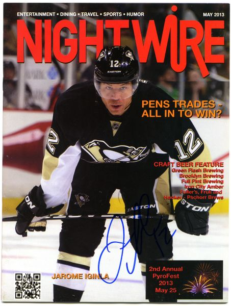 Jarome Iginla, Pittsburgh Penguins signed Nightwire magazine