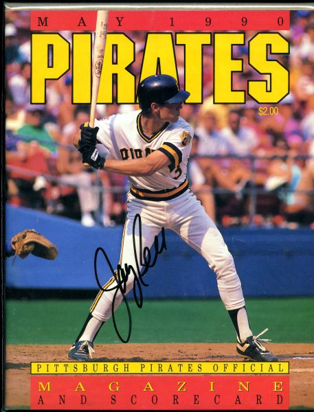 Jay Bell, Pittsbugh Pirates signed magazine/scorecard