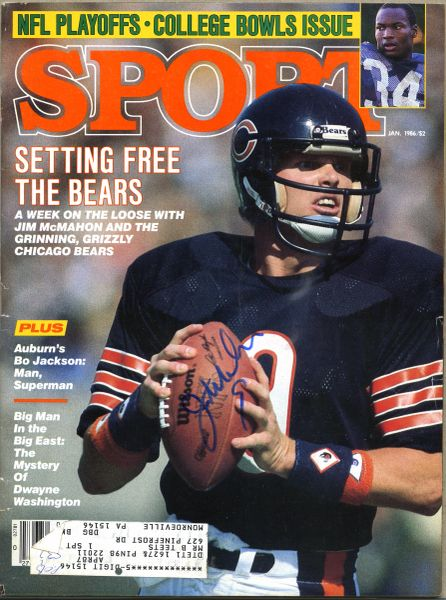Jim McMahon, Chicago Bears signed Sport magazine