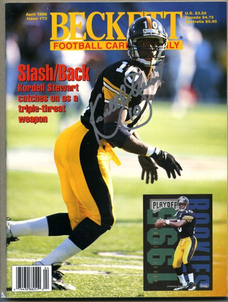 Kordell Stewart, Pittsburgh Steelers signed Beckett football price guide