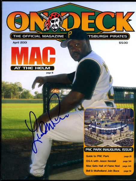 Lloyd McClendon, Pittsburgh Pirates signed PNC Park Inaugural Series Program